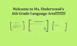 Welcome to 6th Grade Language Arts!!!!!!!!!!