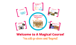 Welcome to a Magical Course - Event Management