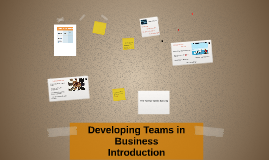Developing Teams in Business: Introduction
