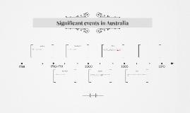 Significant events in Australia