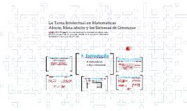 La Tarea Intelectual en Matemáticas