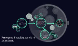 Copy of Copy of Principios Sociológicos de la Educación