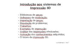 Introdução aos sistemas de Impressão 3D -03