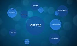 Cópia de Blue Circles - Free Prezi Template