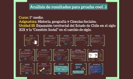 Análisis de resultados para prueba coef. 2