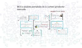 BCG o análisis portfolio de la cartera producto-mercado