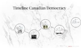 Timeline Canadian Democracy
