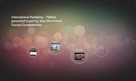 International Marketing Politics and Entry