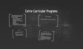 Extra-Curricular Programs
