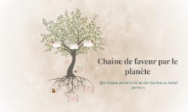 Chaine de faveur par le planete