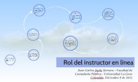 Rol del instructor en línea