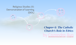 Religious Studies 35: Demonstration of Learning (DOL)