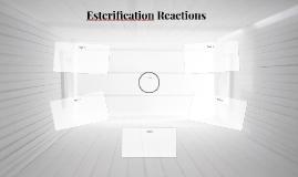 Esterification Reactions