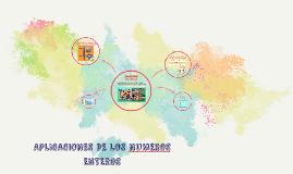 Copy of APLICACIONES DE LOS NUMEROS ENTEROS