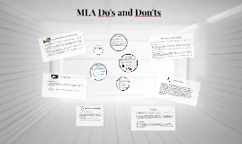 MLA Do's and Don'ts