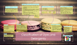 Classification of Dyes and Detergents