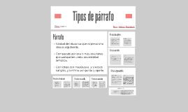 Copy of Tipos de párrafo