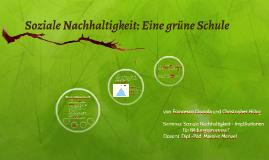 Soziale Nachhaltigkeit: Eine grüne Schule