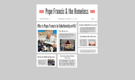 Pope Francis & the Homeless