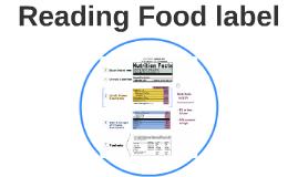 Reading Food label