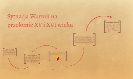 Sytuacja Warmii na przełomie XV i XVI wieku