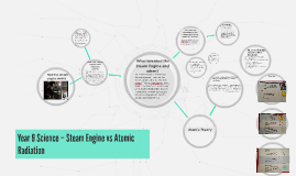 Year 9 Science – Steam Engine vs Atomic Radiation