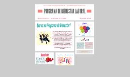 PROGRAMA DE BIENESTAR LABORAL