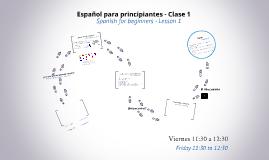 Español para principiantes - Clase 1