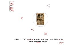 MARIA CELESTE: análise semiótica da capa do Jornal do Povo,