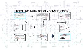 TORNILLOS PARA ACERO Y CONSTRUCCION