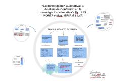 """""""La investigación cualitativa: El Análisis de Contenido en l"""