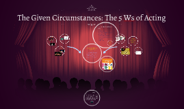 The Given Circumstances
