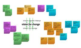 vision for change