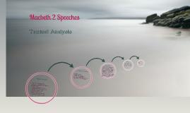 Macbeth 2: Speeches