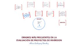 Copy of Errores más frecuentes en la evaluación de políticas y proyectos  - Técnicas de Inversión