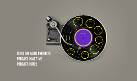 IDEAS FOR AUDIO PRODUCTS: