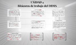 Bitácoras de trabajo del DBMS