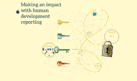 Making an impact with human development reporting