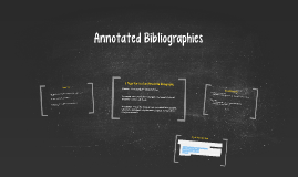 Copy of Annotated Bibliographies