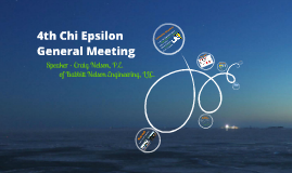 Last Chi Epsilon Meeting