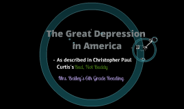Copy of The Great Depression for 6th grade