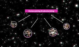 Homecoming Brainstorming