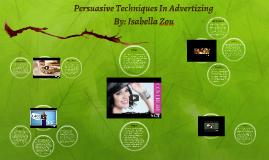 Persuasive Techniques In Advertizing