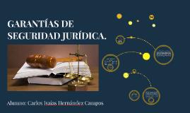 GARANTÍAS DE SEGURIDAD JURÍDICA.