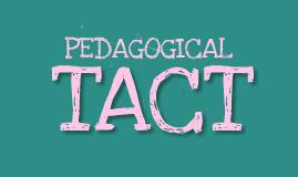 Pedagogical Tact