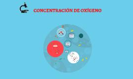CONCENTRACIÓN DE OXÍGENO