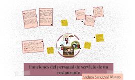 Copy of Funciones del personal de servicio de un restaurante