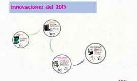 innovaciones del 2013