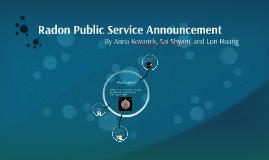 Radon Public Service Announcement
