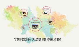 Plan de turismo en calana